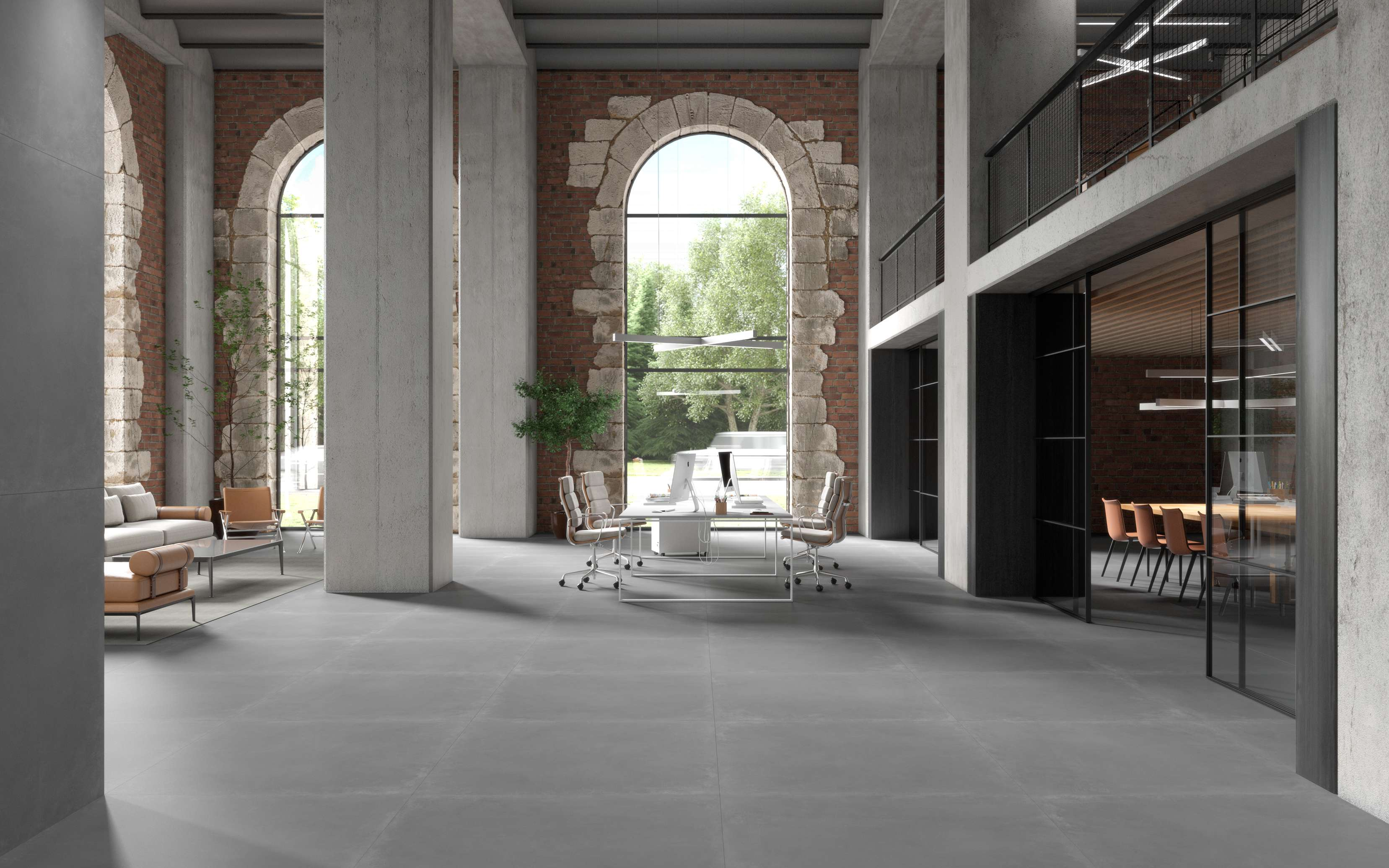 ALL THE ROBUST, PURE ELEGANCE OF STONE AND CLAY INSPIRES THE PORCELAIN STONEWARE SURFACES IN THE ESSENCE COLLECTION.