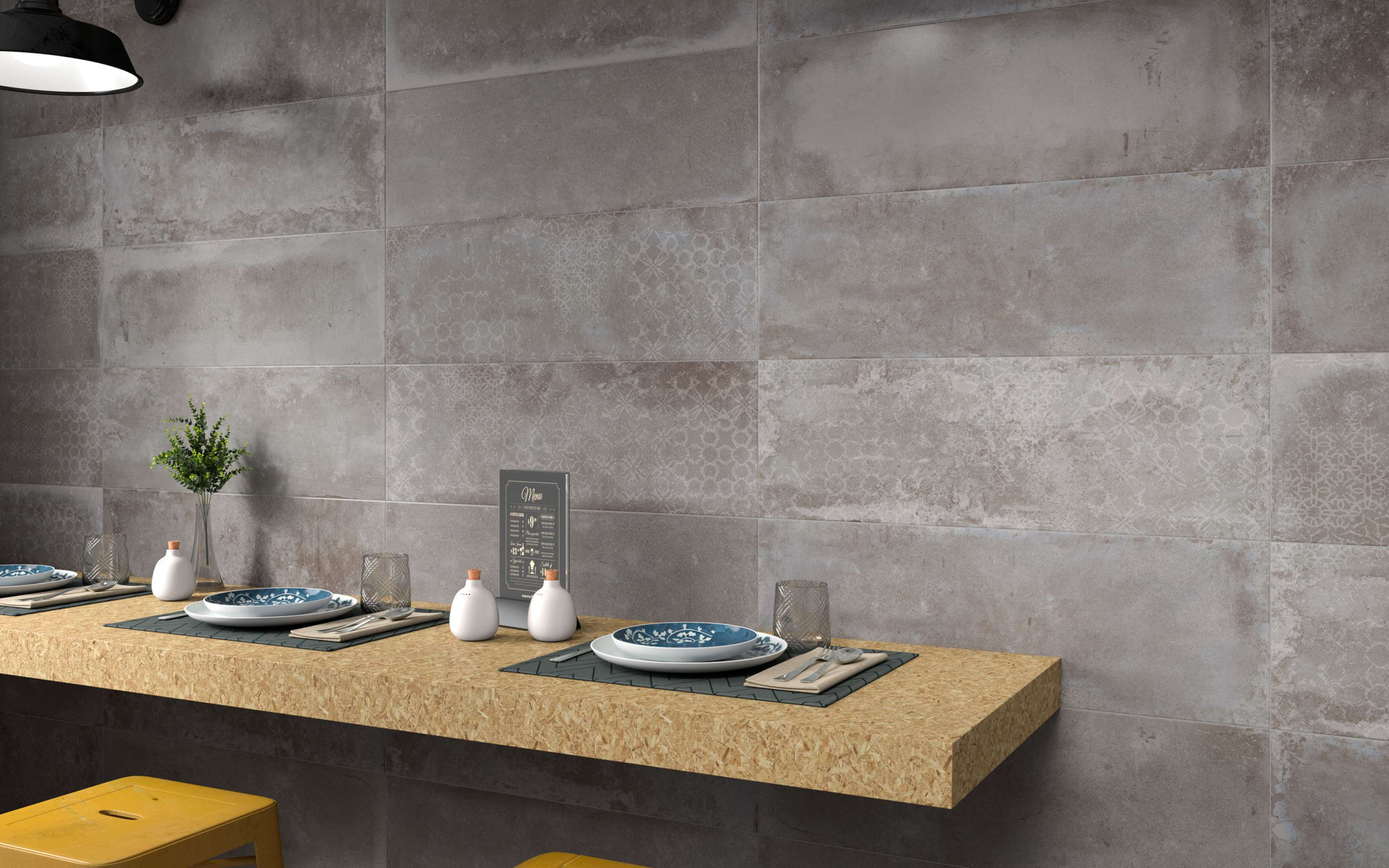 New coordenated wall tiles and new colour